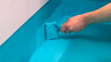 Уникальный материал для окраски бассейна, ванной комнаты или душевой